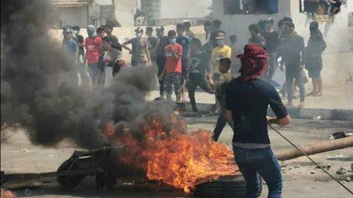 تظاهرات مردم عراق در اعتراض به قطع آب و برق