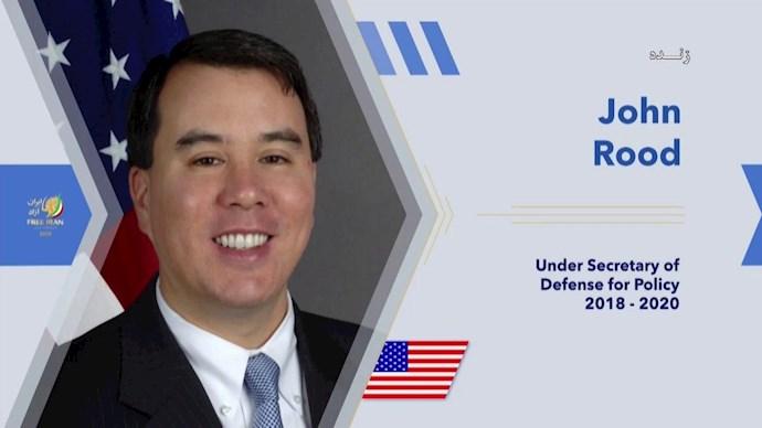 جان رود معاون وزیر دفاع آمریکا در امور سیاسی تا ۲۰۲۰