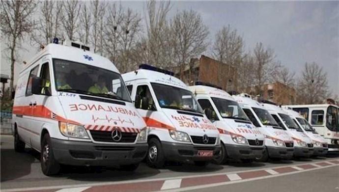 اعتصاب و اعتراض رانندگان اورژانس در اهواز