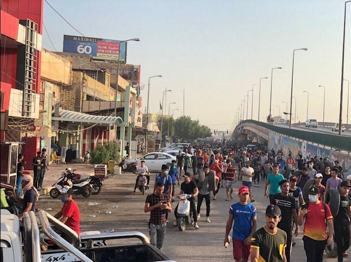 تظاهراًت مردم و جوانان عراق در حله - 3
