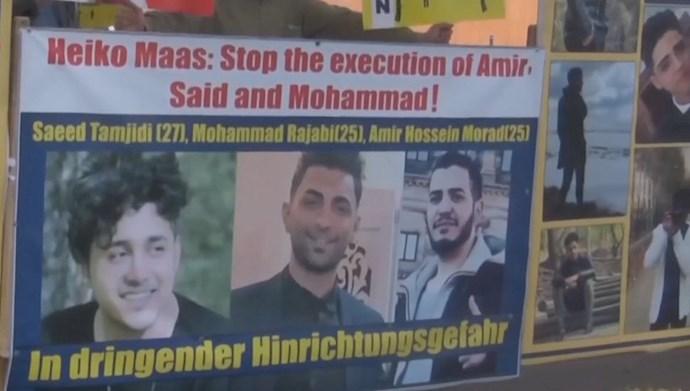 تظاهرات ایرانیان آزاده علیه احکام اعدام سه جوان شورشگر