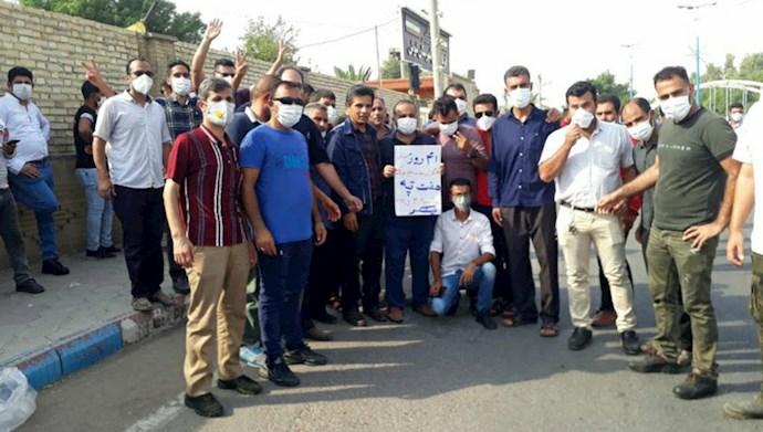 چهل و یکمین روز اعتصاب کارگران نیشکر هفتتپه