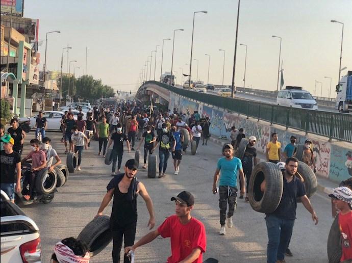 تظاهراًت مردم و جوانان عراق در حله - 5