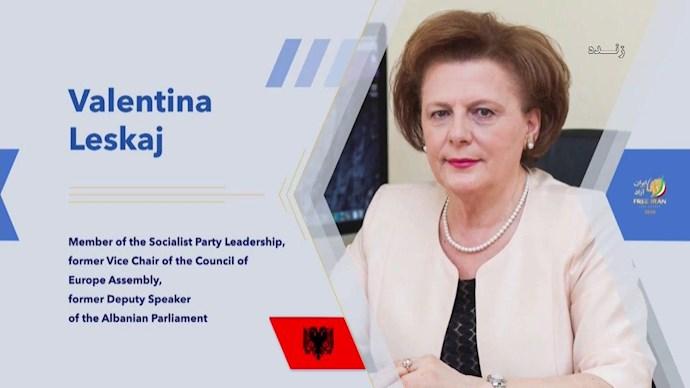 والنتینا لسکای عضو رهبری حزب حاکم سوسیالیست آلبانی، معاون پیشین پارلمان