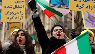 تظاهرات زنان آزاده در حمایت از مقاومت ایران