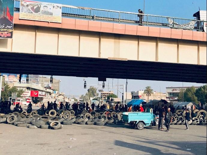 تظاهراًت مردم و جوانان عراق در حله - 9