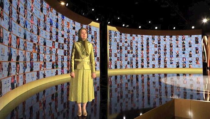 مریم رجوی - سومین اجلاس گردهمایی ایران آزاد -۳۱تیر۹۹