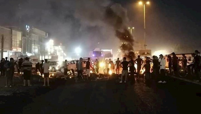 تظاهرات و درگیری مردم و جوانان عراقی در بابل
