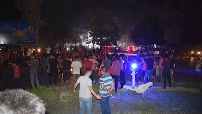 تظاهرات و درگیری در میدان تحریر بغداد -۵ مرداد۹۹