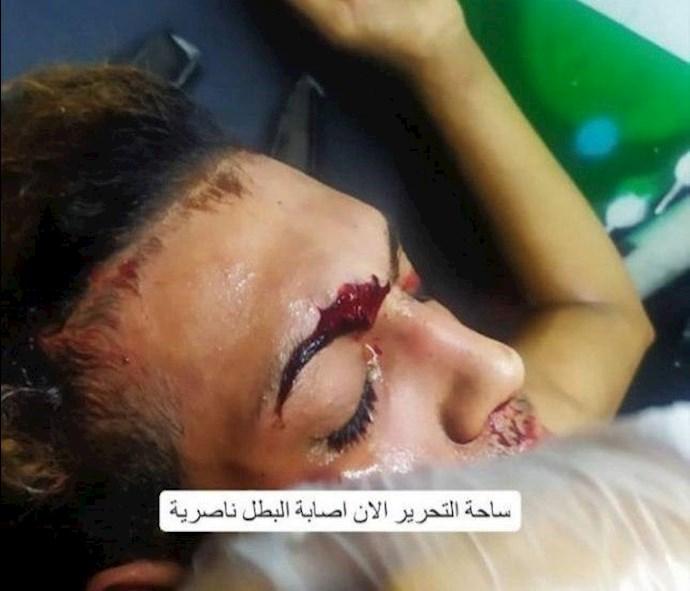 درگیری در عراق،کشته و زخمی شدن تظاهرات کنندگان و آتش زدن چادرهای انقلابیون در میدان تحریر بغداد - 2