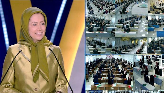 سخنرانی  مریم رجوی در سومین اجلاس جهانی ایران آزاد