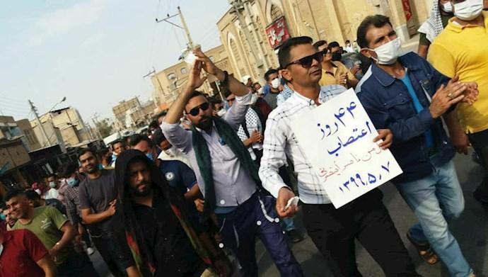 چهل و چهارمین روز اعتصاب کارگران نیشکر هفتتپه