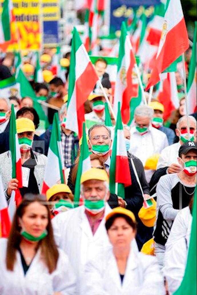 گردهمایی جهانی ایران آزاد - ۲۷تیرماه۱۳۹۹- آلمان - برلین - 6