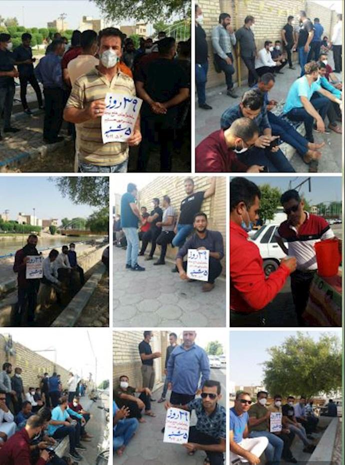 -کارگران هفتتپه در سی ونهمین روز اعتصاب