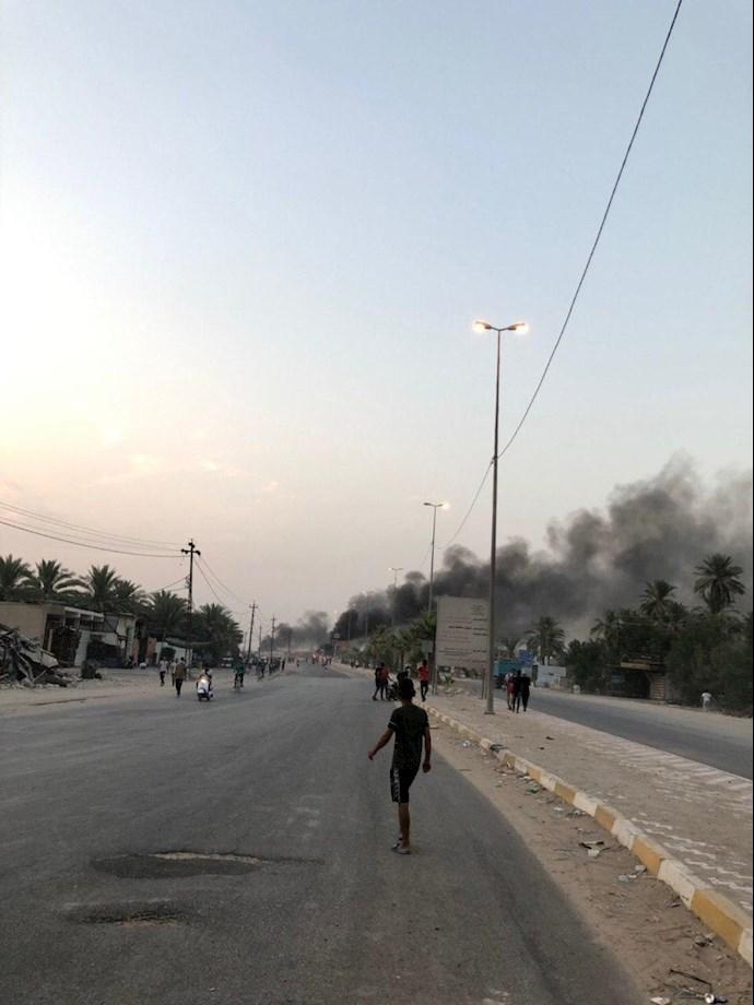 تظاهراًت مردم و جوانان عراق در حله - 4