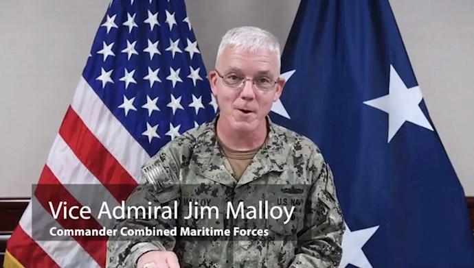 دریاسالار جیمز مالوی فرمانده نیروی دریایی سنتکام