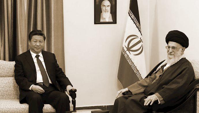 خامنهای ولی فقیه ارتجاع - رئیس جمهور چین