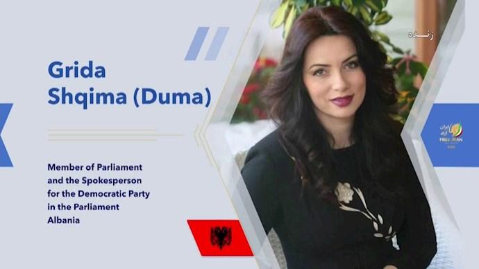 گریدا دوما ـ سخنگوی حزب دموکرات در پارلمان آلبانی