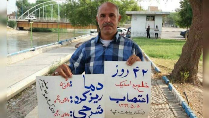 چهل و دومین روز اعتصاب کارگران نیشکر هفتتپه