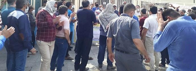 چهل و یکمین روز اعتصاب کارگران نیشکر هفتتپه - 2