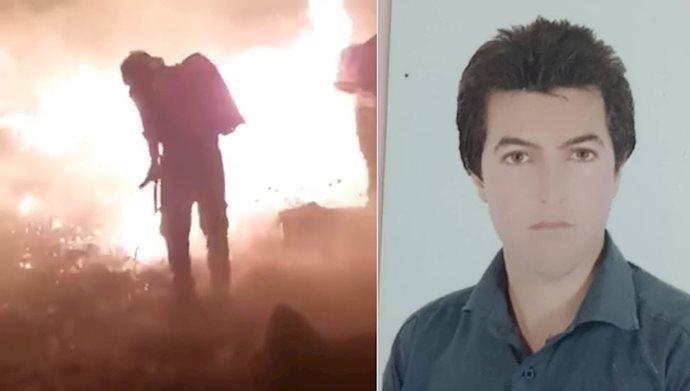 کشته شدن محمد جواد مختاری از فعالان محیطزیست ممسنی حین خاموش کردن آتش