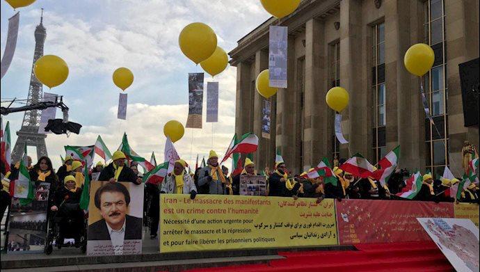 تظاهرات ایرانیان هواداران مجاهدین و شورای ملی مقاومت در فرانسه علیه رژیم آخوندی - ۲۰۱۹