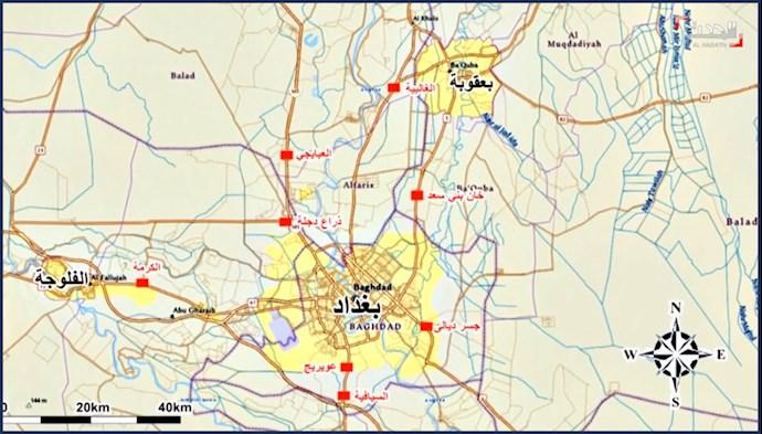 کنترل ورودی خروجیها در عراق توسط نیروهای وابسته به  رژیم ایران