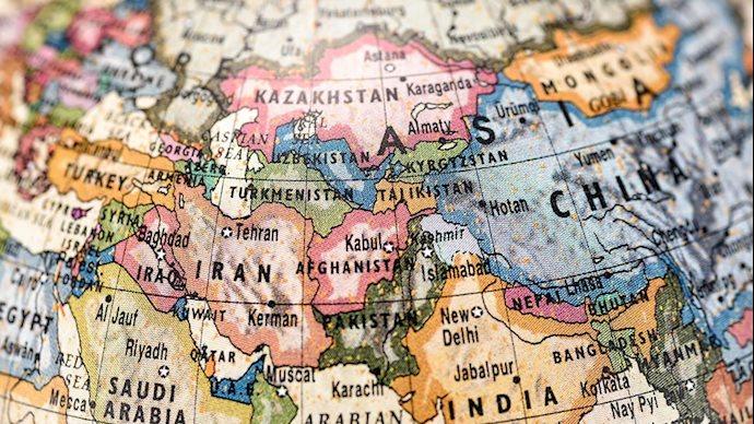 نقشه چین و ایران