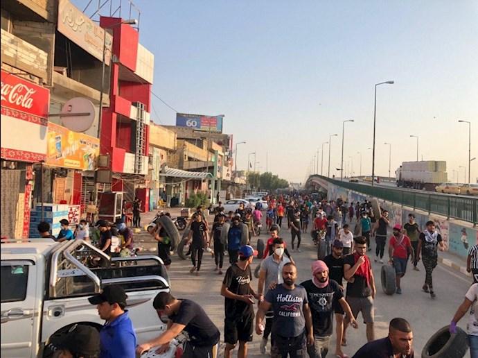 تظاهراًت مردم و جوانان عراق در حله - 1