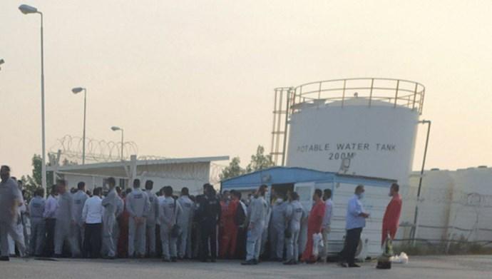 اعتصاب پرسنل میدان نفتی آزادگان شمالی