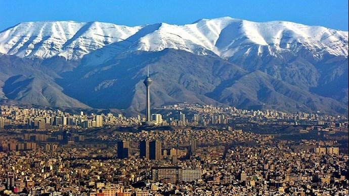 تصویر هوایی از شهر تهران