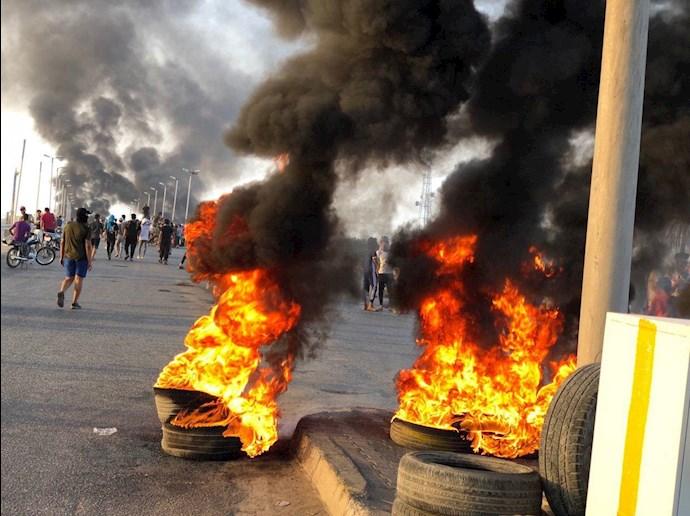 تظاهراًت مردم و جوانان عراق در حله - 6