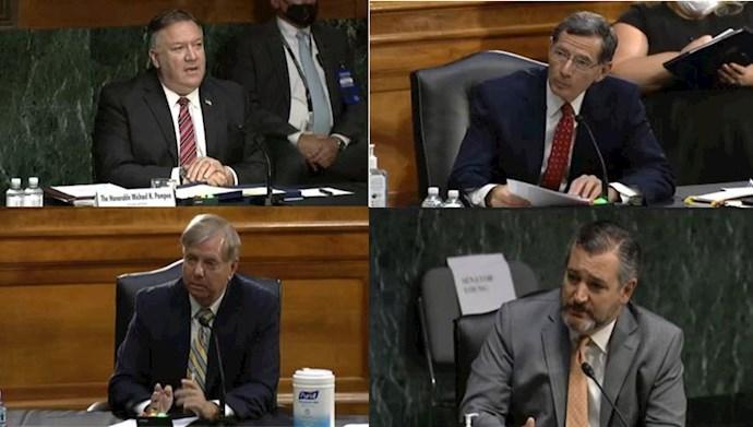 مایک پمپئو،سناتور جان باروسو  ،سناتور لیندزی گراهام ،سناتور تد کروز