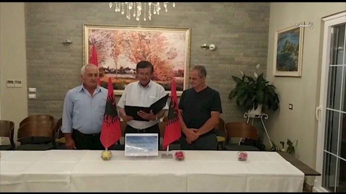 بیانیه حمایت معتمدین منطقه مانس آلبانی و اطراف اشرف۳