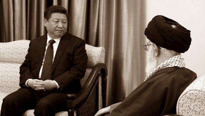 خامنه ای و رئیس جمهور چین