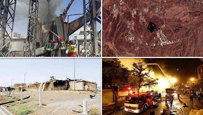 سریال آتشسوزیها و انفجارها در هفته اخیر در ایران