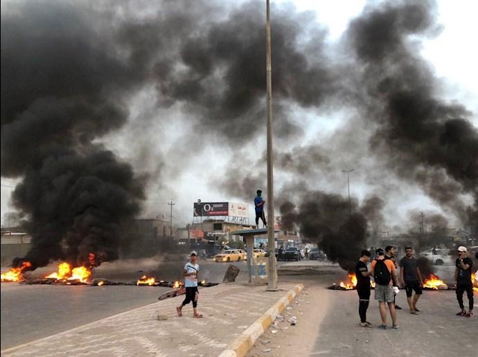 تظاهراًت مردم و جوانان عراق در حله - 2