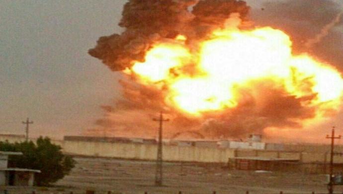 وقوع چند انفجار در  پادگان «صقر» جنوب بغداد