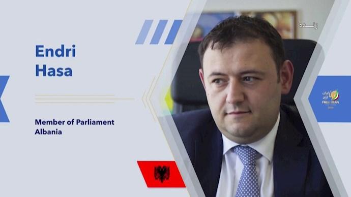 انری هاسا نماینده پارلمان آلبانی
