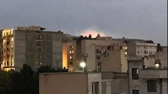 آتش سوزی در شهرک دقایقی محل سکونت سرکردگان سپاه