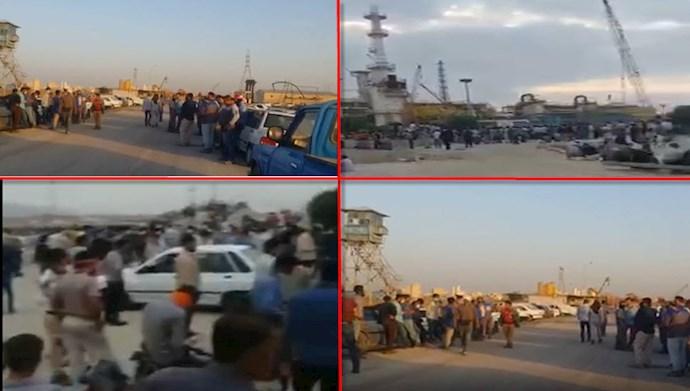 شروع اعتصابات نفتی در آبادان و قشم و لادمرد فارس