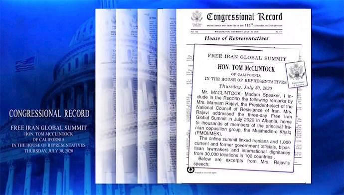ثبت رسمی سخنرانی خانم مریم رجوی در گردهمایی ایران آزاد اجلاس کنگره آمریکا
