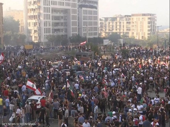 تظاهرات و درگیری مردم خشمگین بیروت - 0