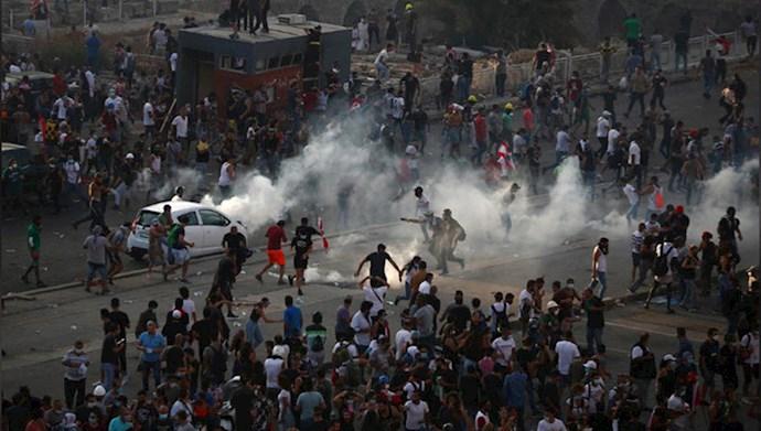 تظاهرات مردم لبنان در بیروت - ۱۸مرداد۹۹