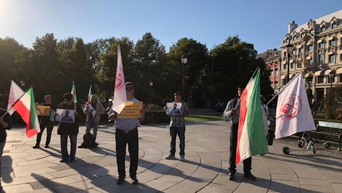 تظاهرات و آکسیون در  اسلو  ۱۷مرداد۹۹