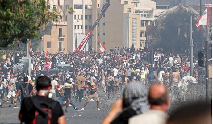 تظاهرات مردم بیروت - ۱۸مرداد۹۹ - 2