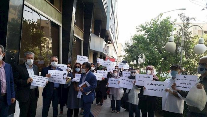 تجمع معلمین کشور در مقابل ساختمان آموزش و پرورش