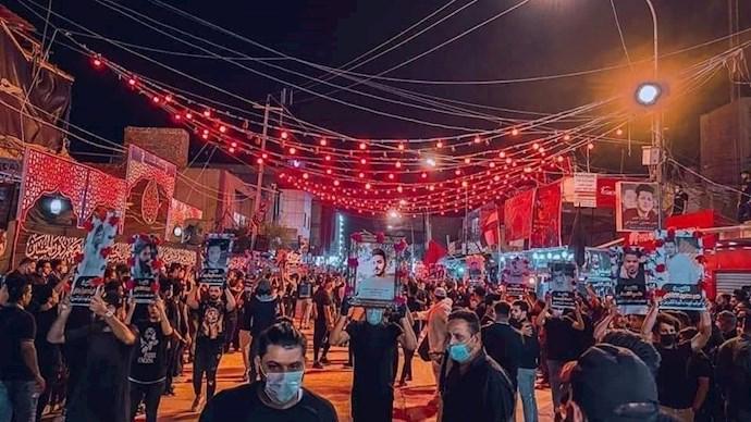 عزاداری جوانان شورشی عراقی