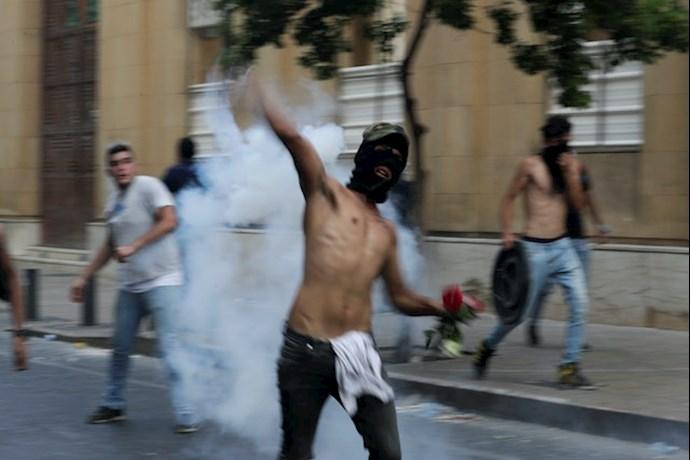 تظاهرات مردم بیروت - ۱۸مرداد۹۹ - 0