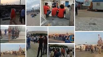 یازدهمین روز اعتصاب کارگران صنعت نفت و پتروشیمی ومراکز تولید نیرو